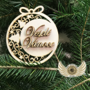 Ozdoba vrstvená - Veselé Vánoce