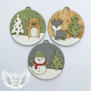 vánoční dřevěné ozdoby pro děti