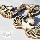 dřevěná vyřezávaná křídla pro výrobu anděla