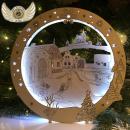 Světelná dekorace - Na návsi